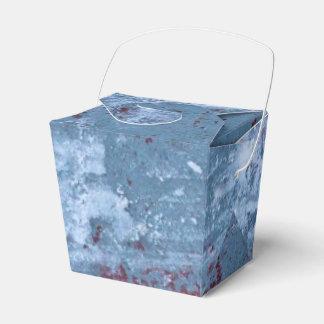 Pintura azul abstracta caja para regalo de boda