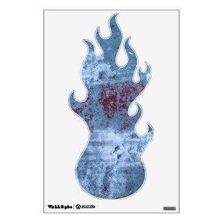 Pintura azul abstracta