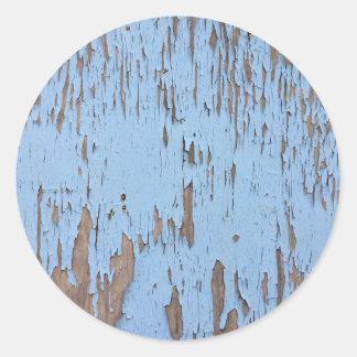 Pintura azul clara de la peladura pegatina redonda