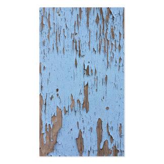 Pintura azul clara de la peladura tarjetas de visita