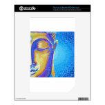 Pintura azul de Buda Skins Para NOOK Color
