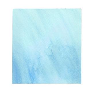 Pintura azul de la acuarela de la precipitación libreta para notas