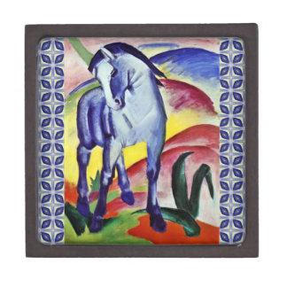 Pintura azul de la bella arte del vintage del cajas de regalo de calidad