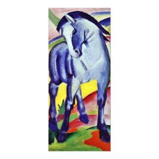 Pintura azul de la bella arte del vintage del invitación 10,1 x 23,5 cm