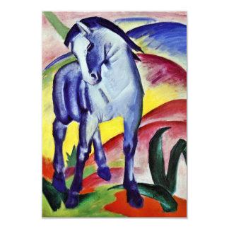 Pintura azul de la bella arte del vintage del invitación 8,9 x 12,7 cm