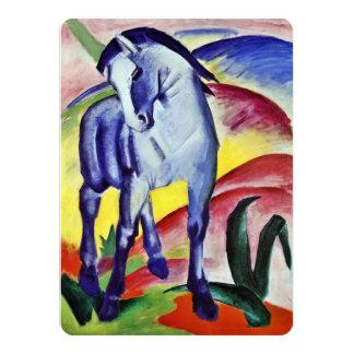 Pintura azul de la bella arte del vintage del invitacion personalizada