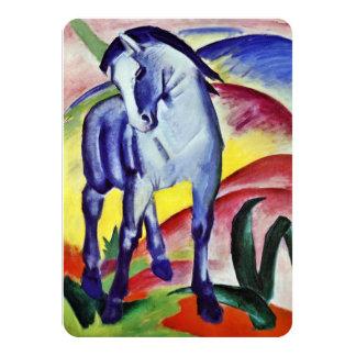 Pintura azul de la bella arte del vintage del invitación 11,4 x 15,8 cm
