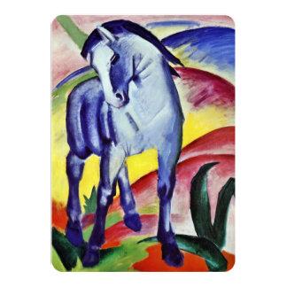 Pintura azul de la bella arte del vintage del invitación 12,7 x 17,8 cm