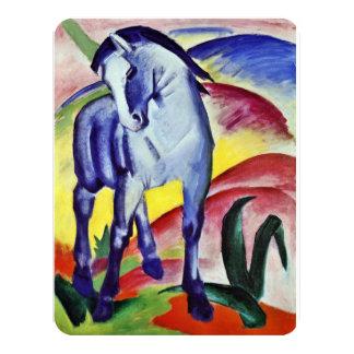 Pintura azul de la bella arte del vintage del invitación 10,8 x 13,9 cm