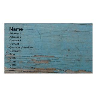 Pintura azul de la peladura tarjetas de visita