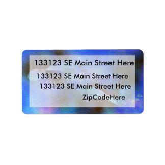 Pintura azul de las huellas etiquetas de dirección