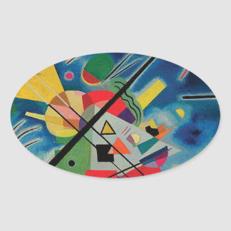 Pintura azul de Wassily Kandinsky Pegatina Ovalada