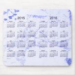 Pintura azul vieja 2015-2016 calendario de 2 años alfombrilla de ratones