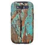 Pintura azul vieja en la madera samsung galaxy s3 coberturas