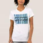 Pintura azul y verde rayada de la acuarela camiseta