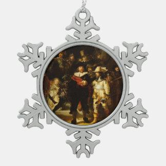 Pintura barroca del guardia nocturna de Rembrandt Adornos