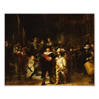 Pintura barroca del guardia nocturna de Rembrandt Fotografía