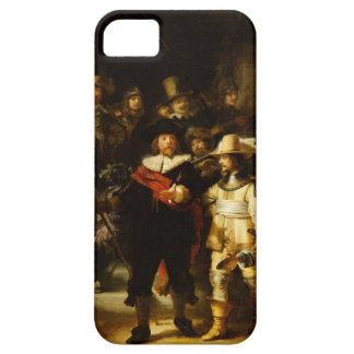 Pintura barroca del guardia nocturna de Rembrandt iPhone 5 Fundas