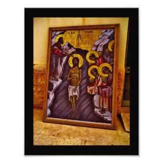 Pintura bautismal del sitio fotografías