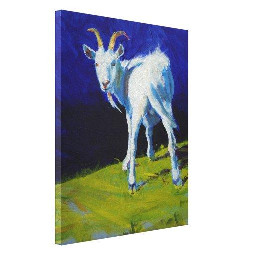 Pintura blanca de la cabra lienzo envuelto para galerias