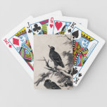 Pintura blanco y negro antigua china de la tinta baraja de cartas