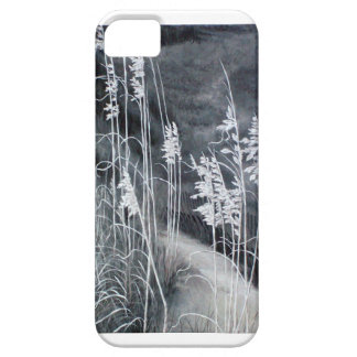 Pintura blanco y negro de la avena del mar iPhone 5 cobertura