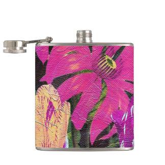 Pintura botánica rosada del cepillo del aceite de petaca