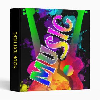 "Pintura brillante colorida Splats de la música de Carpeta 1"""