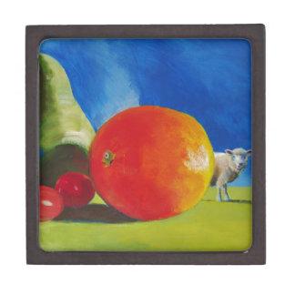 Pintura brillante de la fruta cajas de regalo de calidad