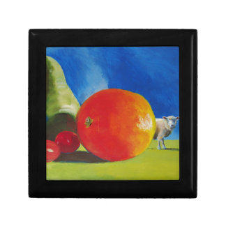 Pintura brillante de la fruta cajas de recuerdo