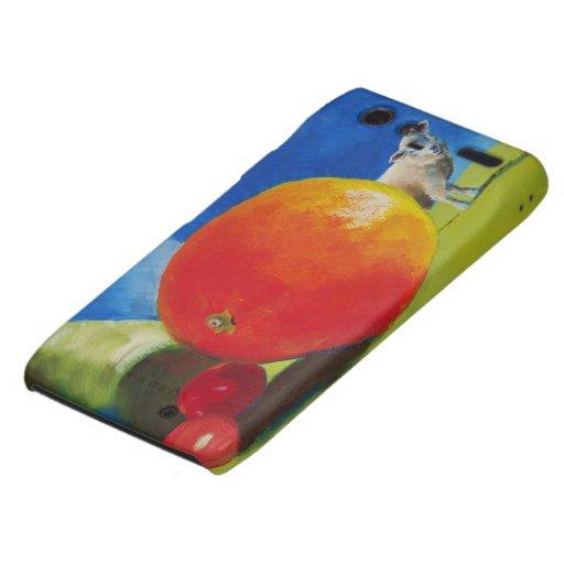 Pintura brillante de la fruta droid RAZR carcasas