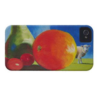 Pintura brillante de la fruta iPhone 4 cobertura