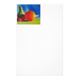 Pintura brillante de la fruta papelería personalizada