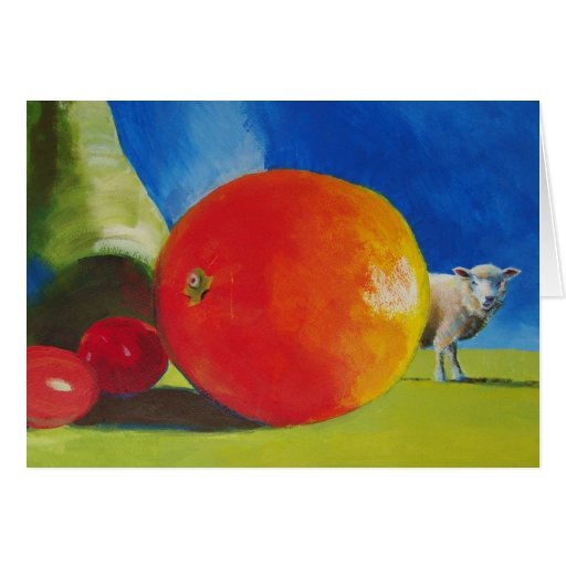 Pintura brillante de la fruta tarjetas
