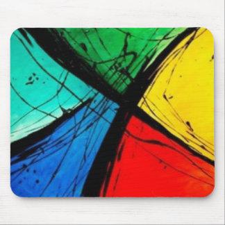 Pintura brillante enrrollada del arte abstracto alfombrilla de raton
