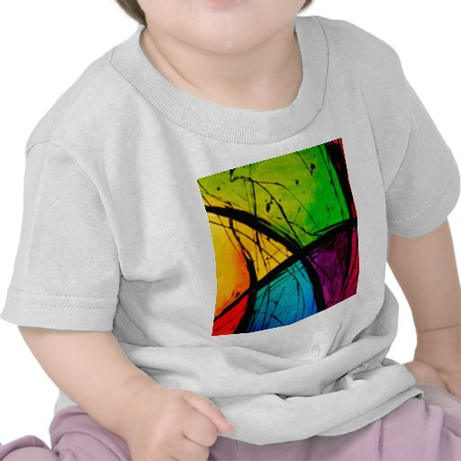 Pintura brillante enrrollada del arte abstracto camiseta