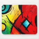 Pintura brillante enrrollada del arte abstracto tapete de ratones