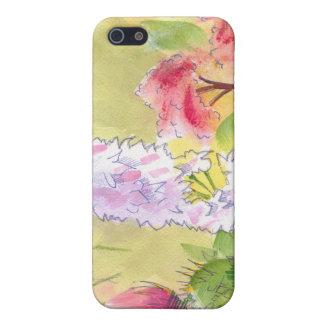 Pintura británica de las flores salvajes iPhone 5 carcasa