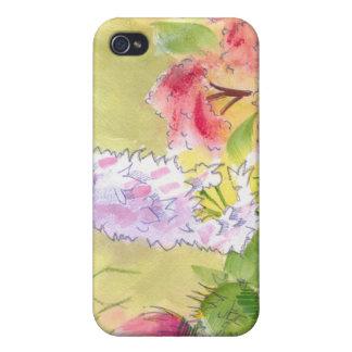Pintura británica de las flores salvajes iPhone 4/4S carcasa
