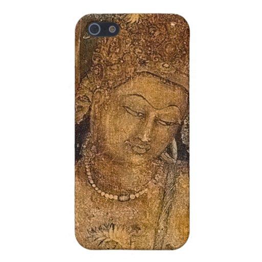 Pintura budista antigua iPhone 5 fundas
