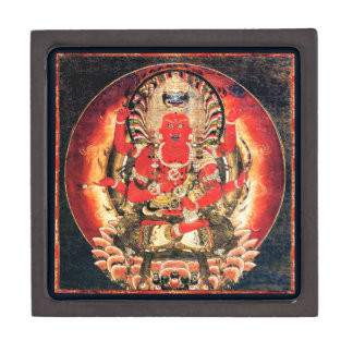 Pintura budista del siglo XIV de Aizen Myoo Cajas De Regalo De Calidad