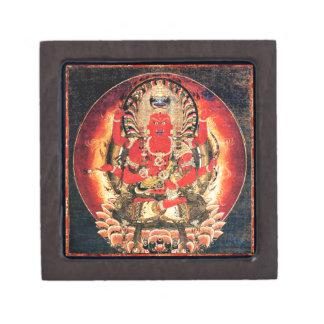 Pintura budista del siglo XIV de Aizen Myoo Caja De Recuerdo De Calidad
