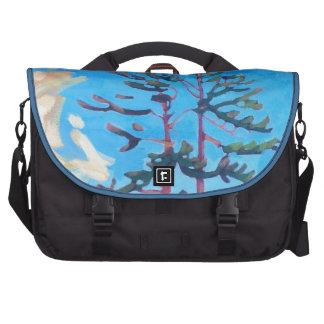 Pintura canadiense original del árbol bolsas para portátil