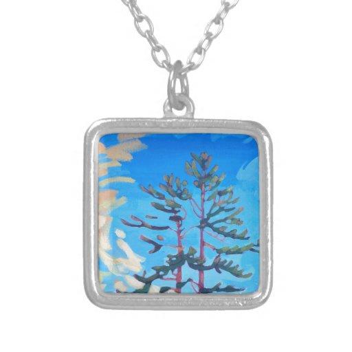 Pintura canadiense original del árbol colgante cuadrado