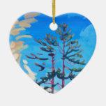 Pintura canadiense original del árbol ornaments para arbol de navidad