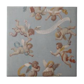 Pintura caprichosa de los ángeles de la querube de tejas  ceramicas