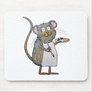 Pintura caprichosa del cepillo del artista del pin tapetes de ratones