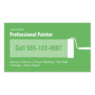 Pintura casera profesional verde de encargo tarjetas de visita