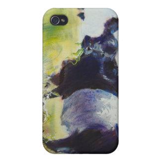 Pintura ceñida de la vaca de Galloway iPhone 4 Carcasas