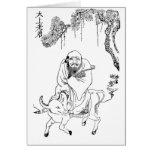 Pintura china de la dinastía de Tzu Ming del Lao Tarjeta